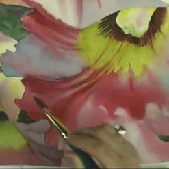 آموزش نقاشی گل ارکیده با آبرنگ - آنا پمبر
