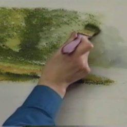 نقاشی آبرنگ منظره از تری هریسون