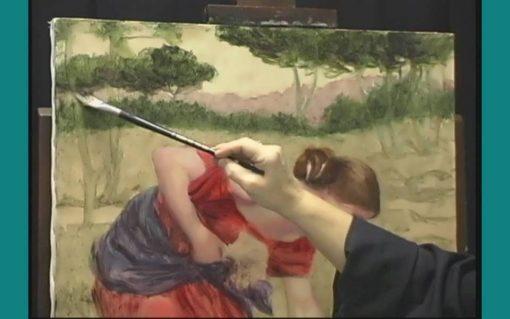 نقاشی زن در مزرعه از لیلیه دال - رنگ روغن