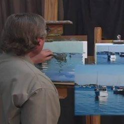 آموزش نقاشی آب با پاستل با باب رام