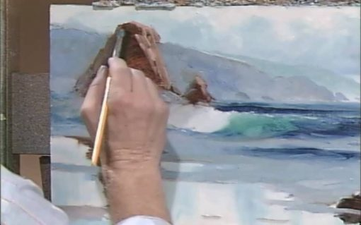 نقاشی دریا با رنگ روغن - از جان رابینسون
