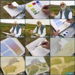 آموزش نقاشی آبرنگ از آلوین کراشو