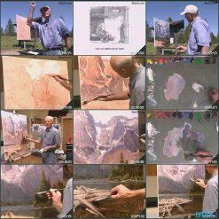 آموزش نقاشی دریاچه با رنگ روغن با جیم ویلکاکس
