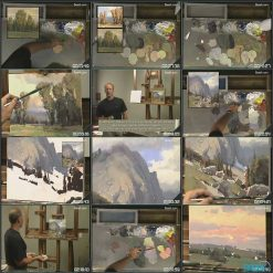 آموزش نقاشی سه منظره با رنگ روغن از اسکات کریستینسن