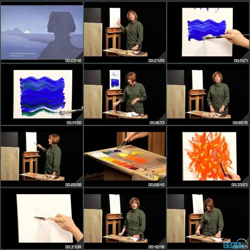 نقاشی رنگ روغن مقدماتی تا پیشرفته - گیل لوی