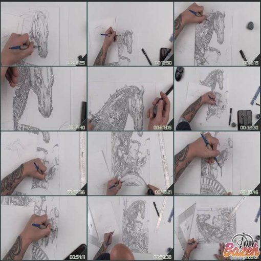 آموزش طراحی کمیک بوک با مداد از دیوید فینچ