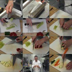 آموزش تکنیک های کارد آشپزی