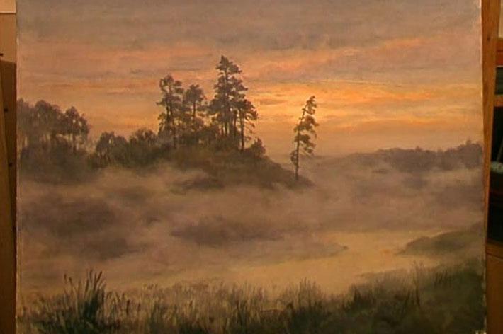 نقاشی کوهستان در مه آندریاکا