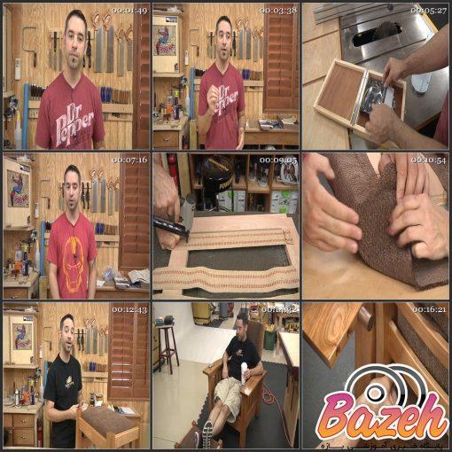 آموزش ساخت صندلی چوبی دسته دار راحتی (صندلی موریس)