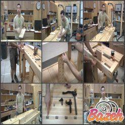 آموزش ساخت میز کار کارگاهی سر شیاردار حرفه ای
