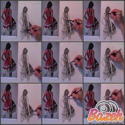 آموزش نقاشی پارچه و لباس با مداد: راهکار لایه به لایه