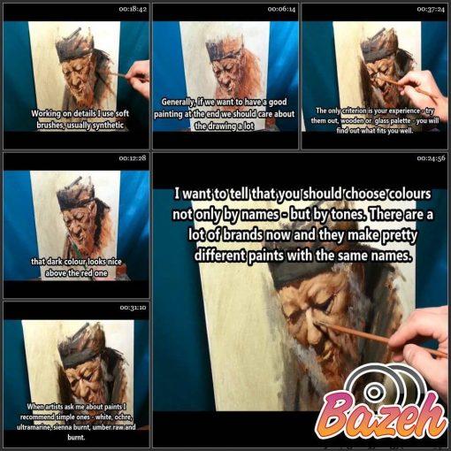 آموزش نقاشی رنگ روغن با سرگی گوسو
