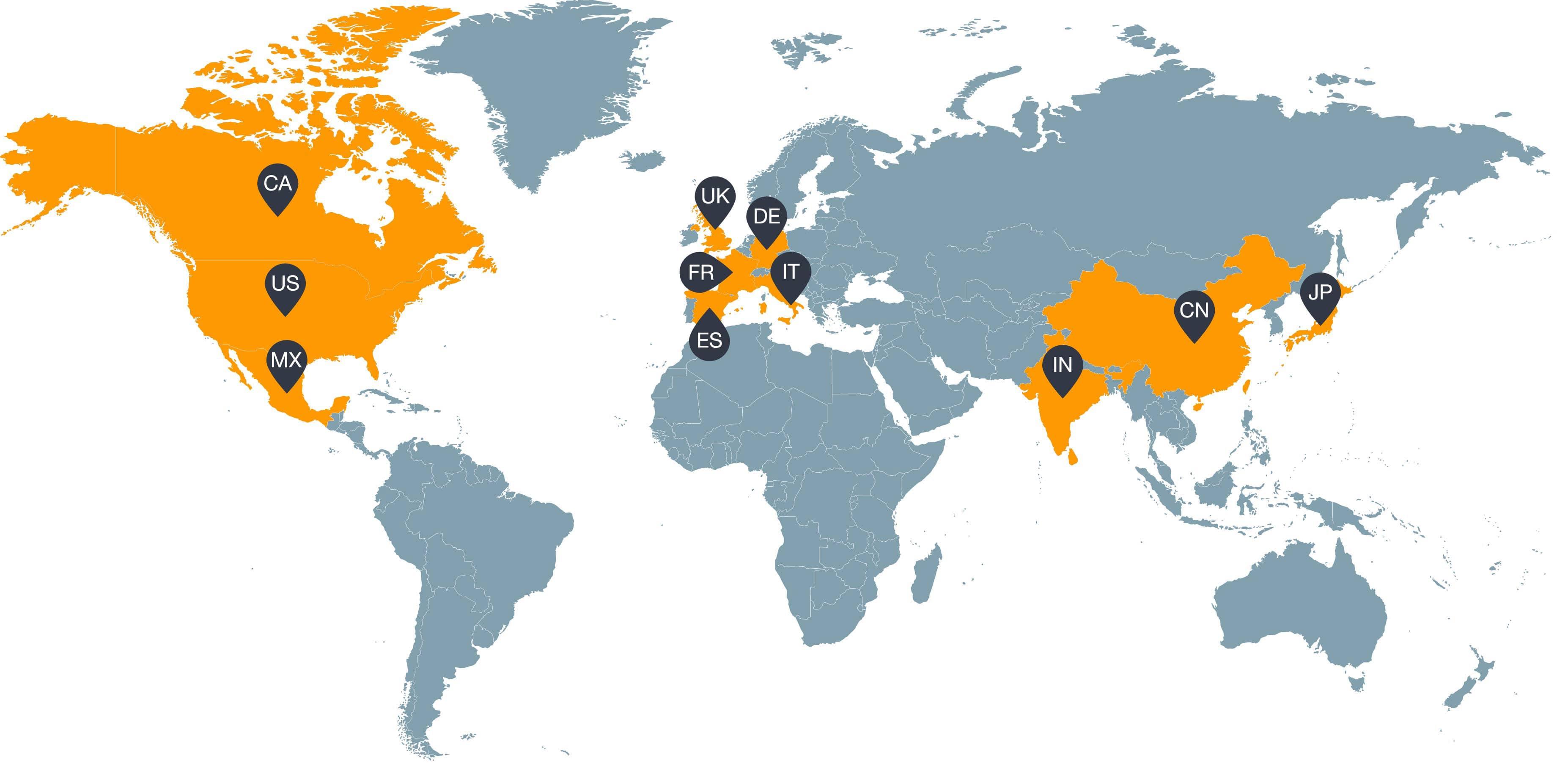 مکان های بیزنس آمازون در دنیا