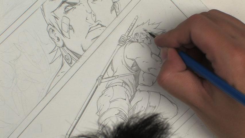 طراحی کامیک بوک با مداد
