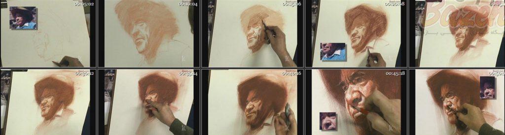 کریگ نلسون آموزش نقاشی پرتره با پاستل