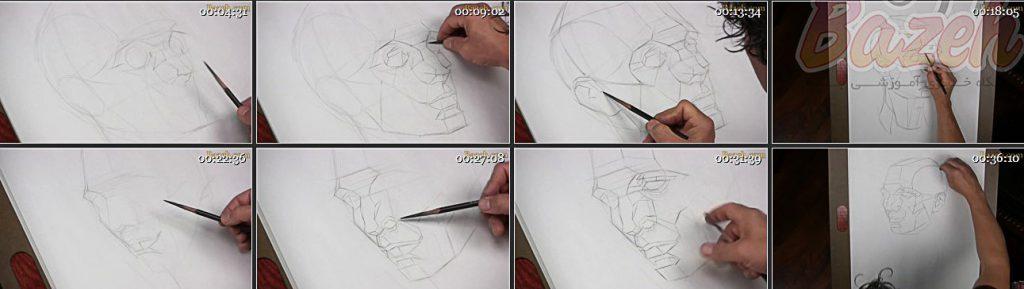 آتلیه واتس نقاشی چهره پرتره