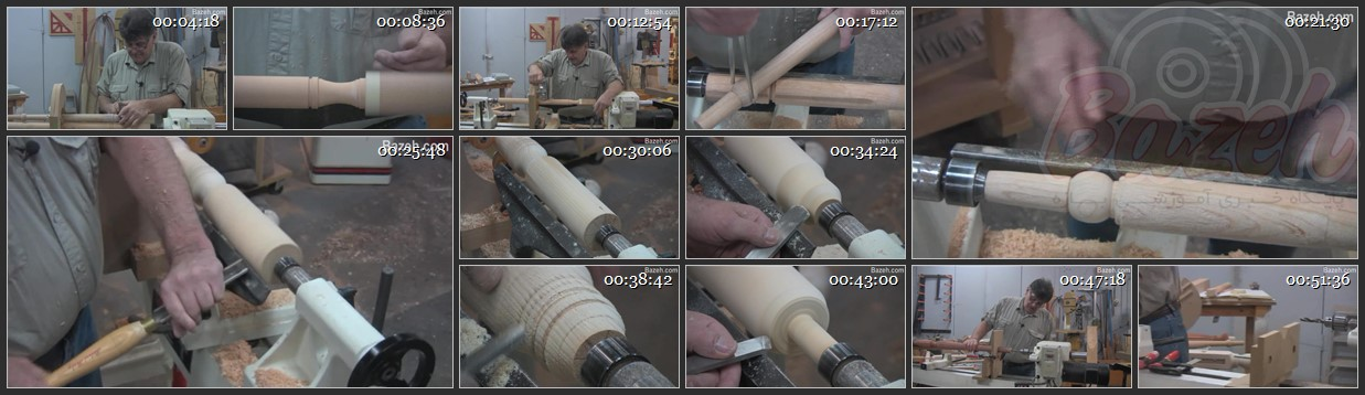 آموزش خراطی - ساخت پایه مبل